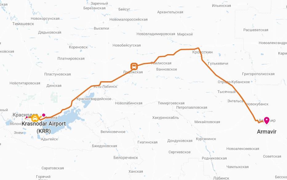 Поездка из Краснодара в Армавир